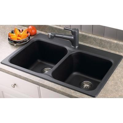 Blanco Vision 210 Anthracite Home Depot Black Kitchen Sink Drop