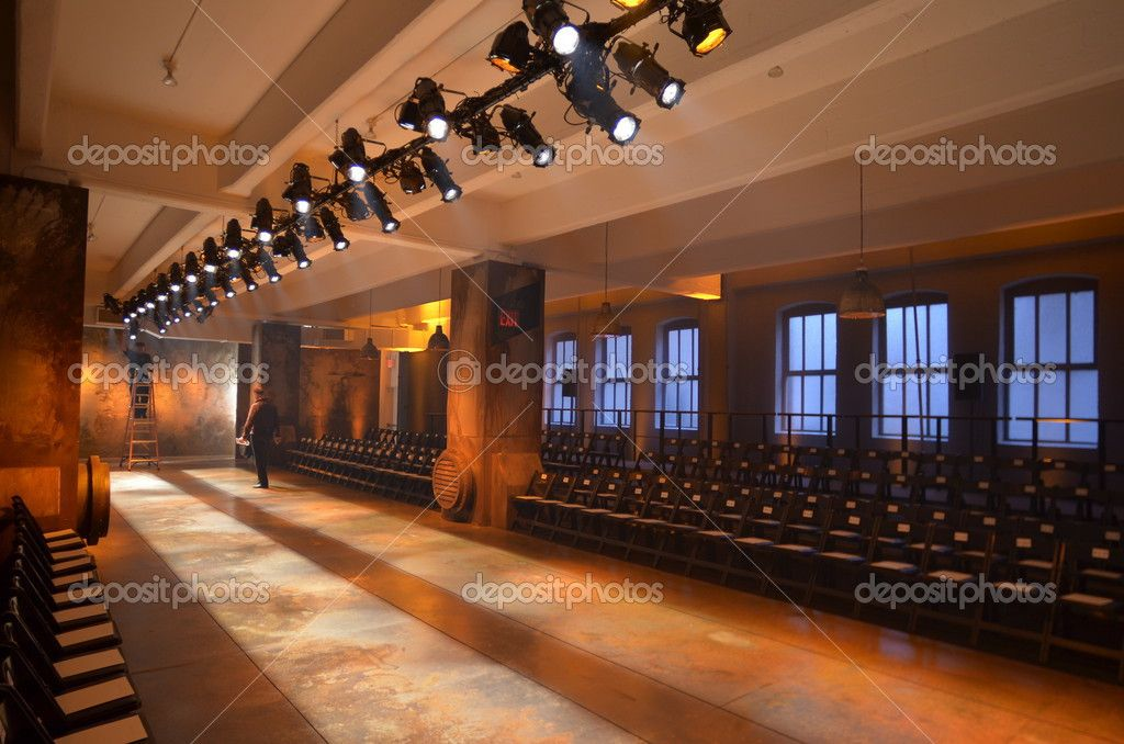empty fashion runway empty fashion show stage with