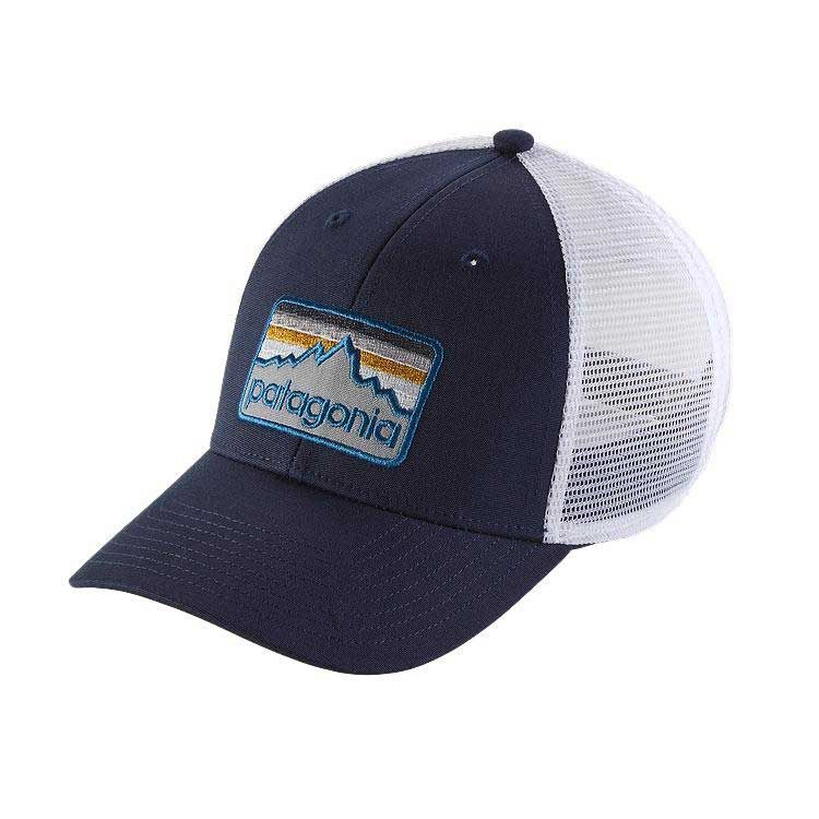 dd4d76970926b Patagonia Line Logo Badge LoPro Trucker Hat in Navy Blue 38181-NVYB ...