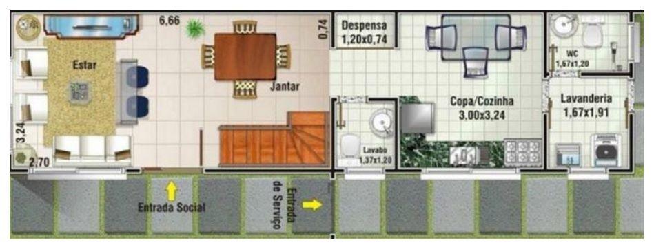 Casa de 6 metros dise os casas rectangulares pinterest for Casas rectangulares