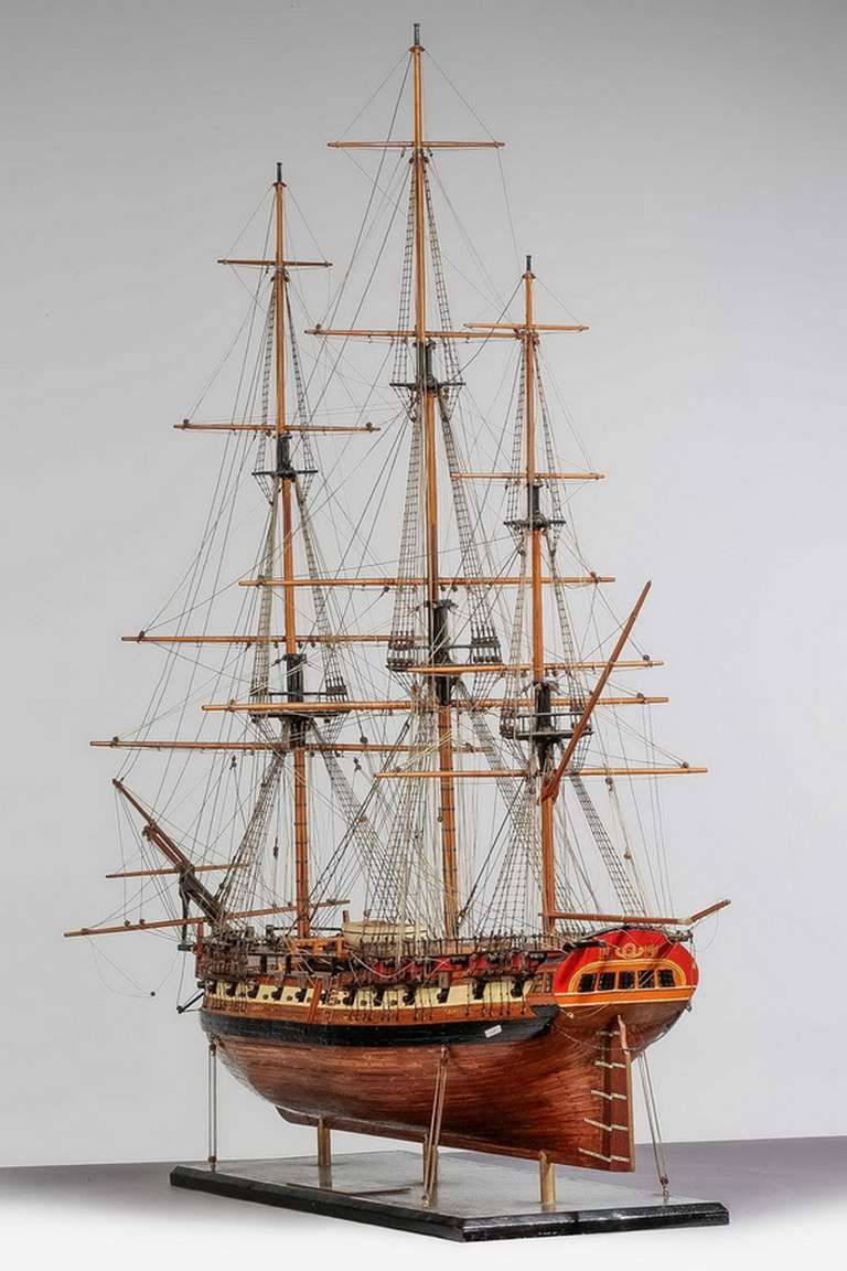 """Duck Boats For Sale >> """"USS Frigate Essex"""" Ship Model, 1799 - stern view 