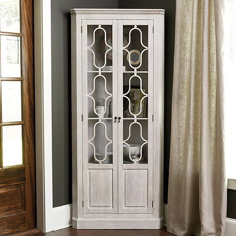 The elegant astragal glass doors of our Frederica Corner Cabinet ...