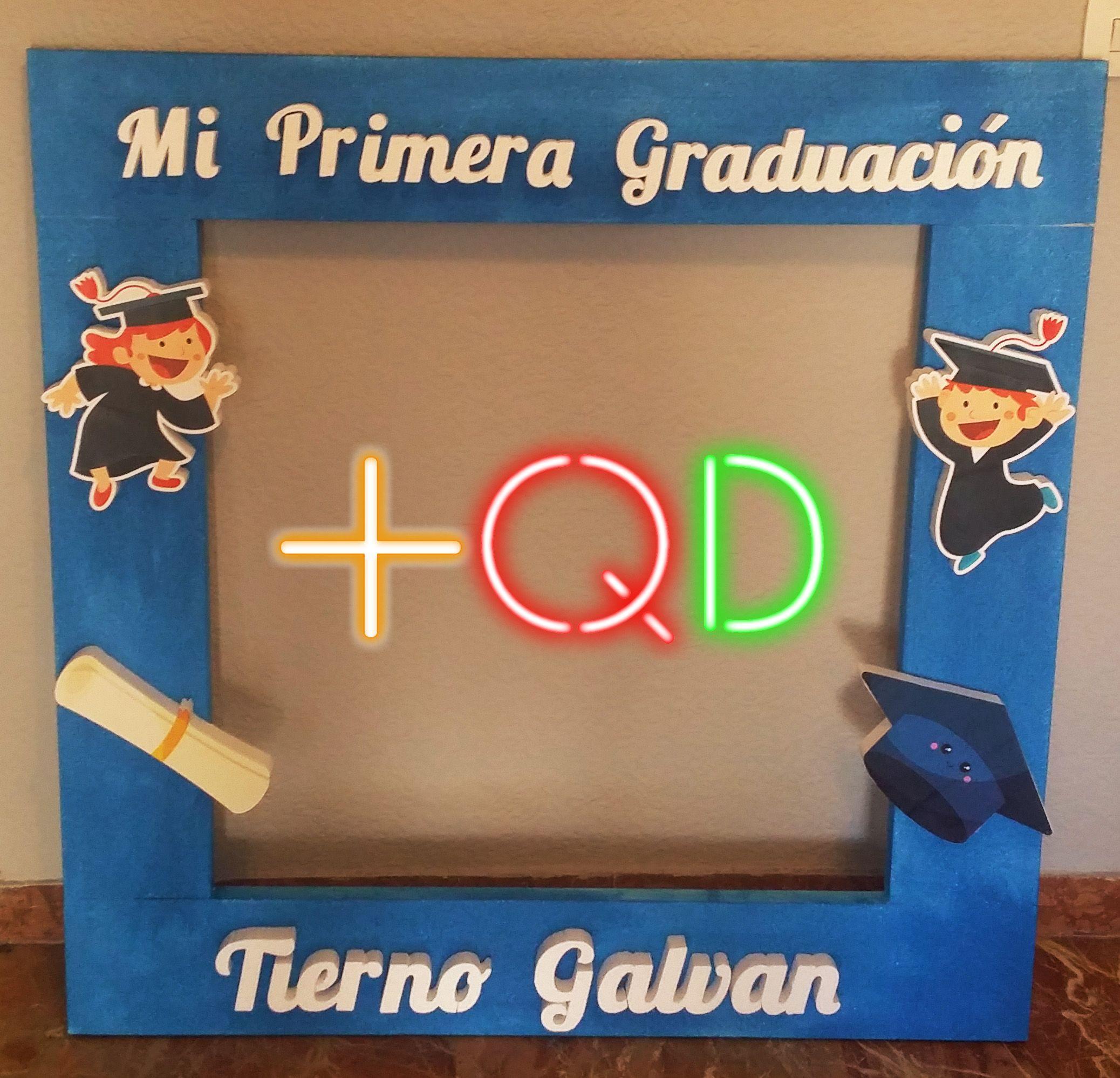 Marco #photocall de #graduacion Buscanos en Facebook Masque Diseños ...