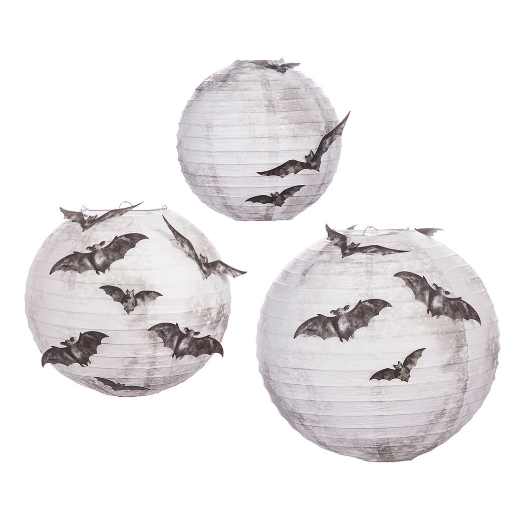 Get the Martha Stewart Hanging Moon Paper Lanterns at Michaels - Office Halloween Decor