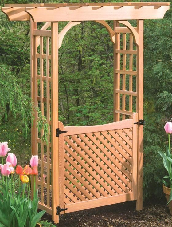 Bancroft Garden Gate - Arches - Garden Structures - Outdoor | HomeDecorators.com. We could totally diy something like this...