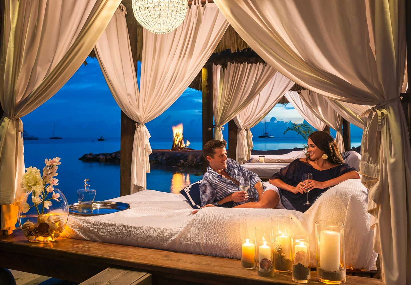 Sandals Negril - Balinese-style cabanas with beds are ...