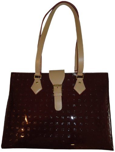 b34a109ffdef Women s Arcadia Patent Leather Purse Handbag Polo Red Natural   Amazon.co.uk  Amazon.co.uk