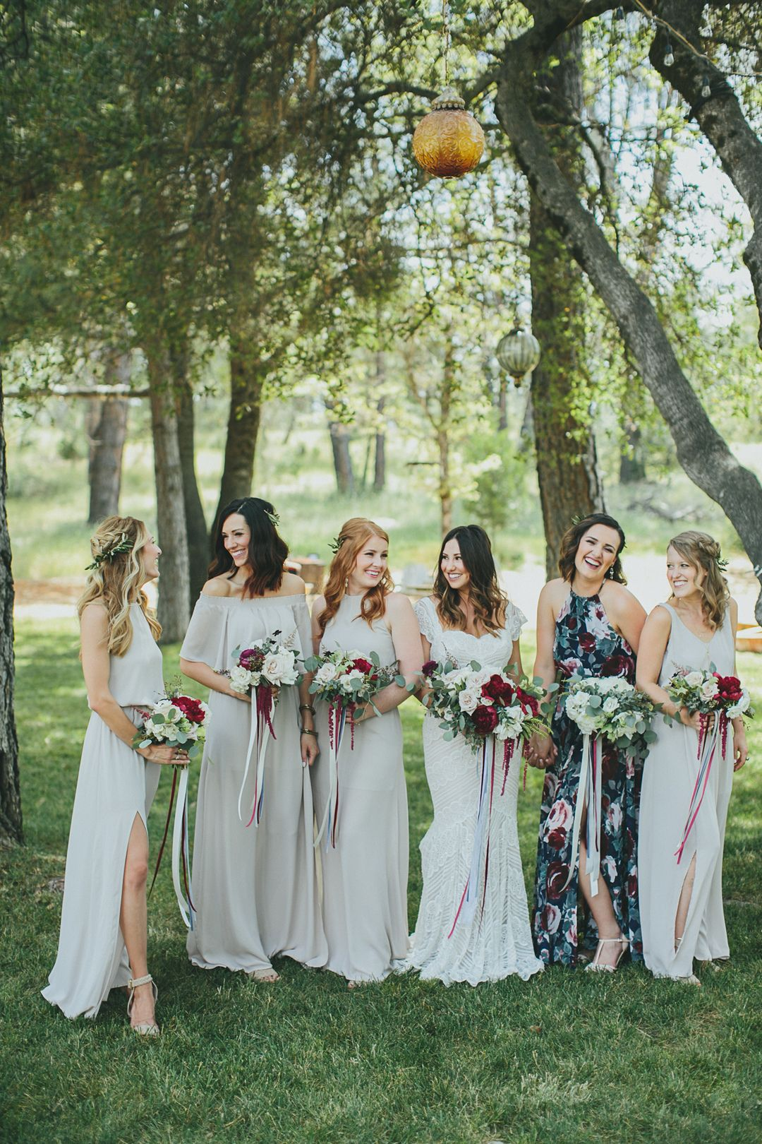 The smarter way to wed romantic party fashion and mix match romantic outdoor wedding bridesmaid dress ideas loose flowing bridesmaid dresses light gray bridesmaid ombrellifo Image collections