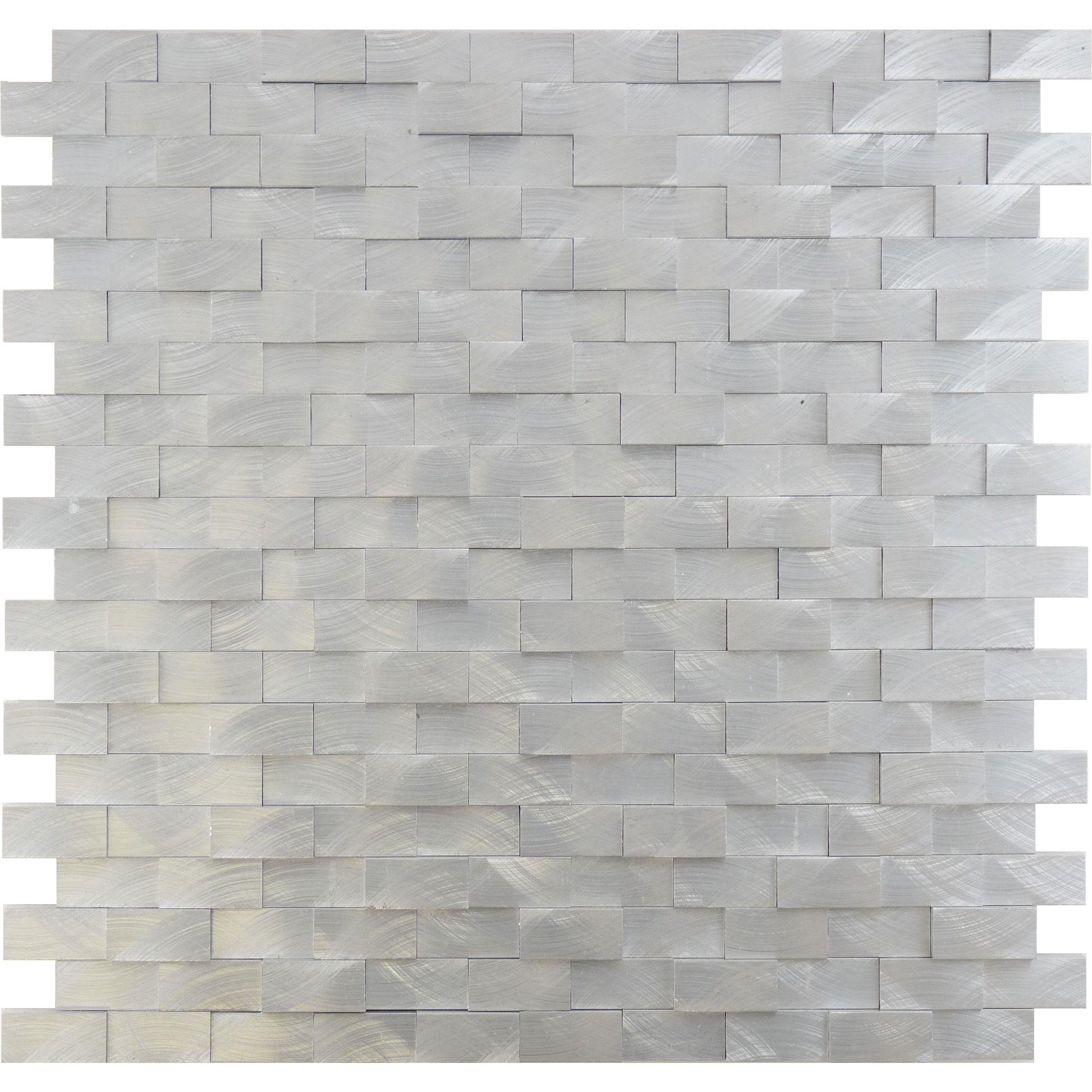 Sheet Size 11 7 8 X 11 7 8 Tile Size 1 2 X 1 1 8 Tiles Per Sheet 200 Tile Thickness 3 8 Sheet Mount Mesh Backed Sol Dimensional Tile Tiles Metal Tile