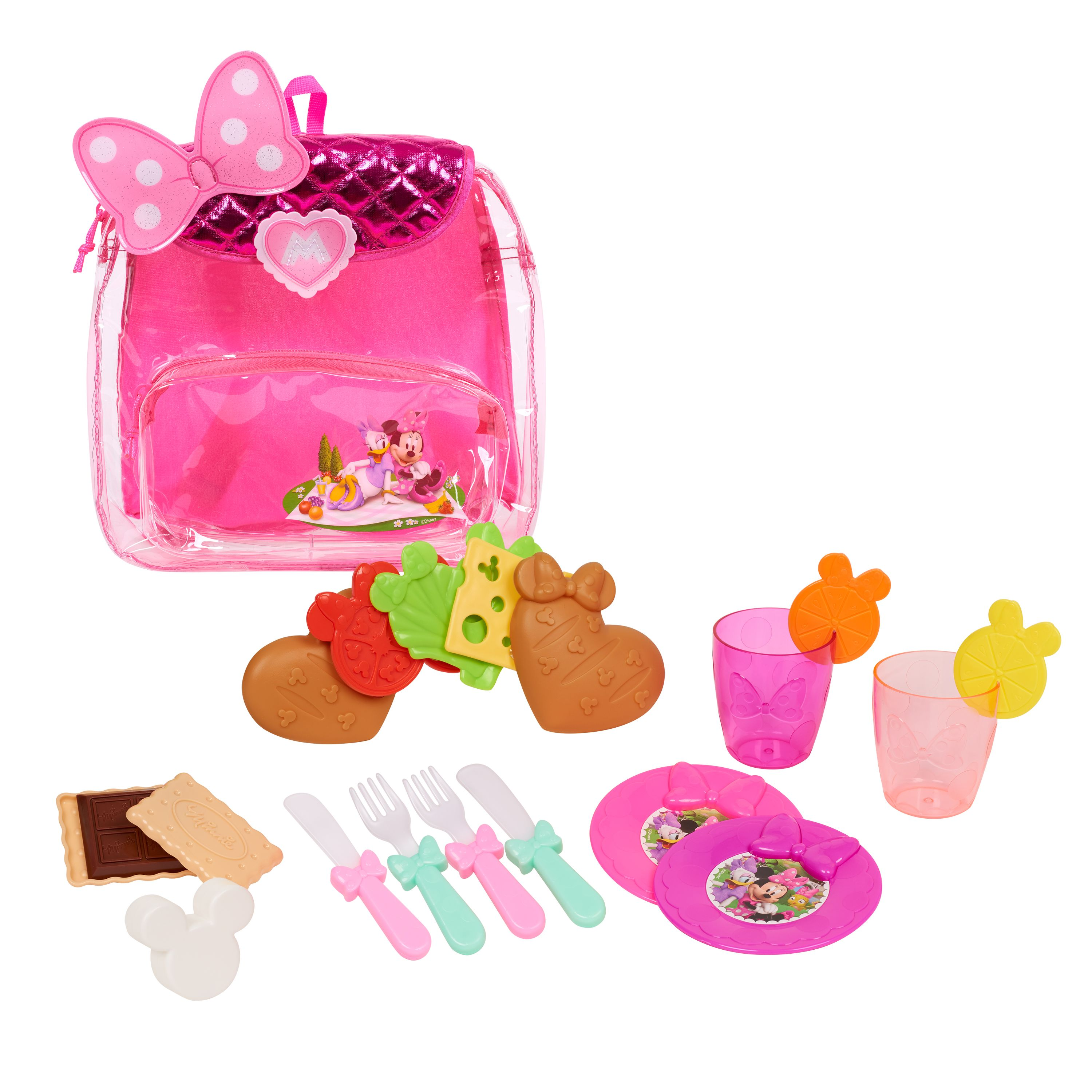 Styles may vary Minnie Bow Tique Bowtastic Shopping Basket Set Pink