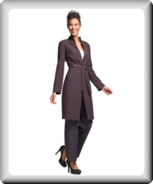 Ladies Suits with Long Jackets | Calvin Klein Women's Blazer ...