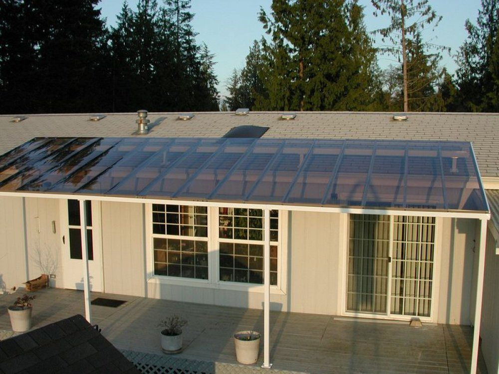 Patio Roof Ideas This Patio Roof Is Tinted Glass Which Lets Some Light In But Shades