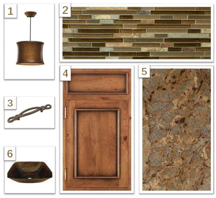 Kitchen Trends Knotty Alder Kitchen Cabinets: Brown_Granite_Countertop_with_Glass_and_Slate_Backsplash