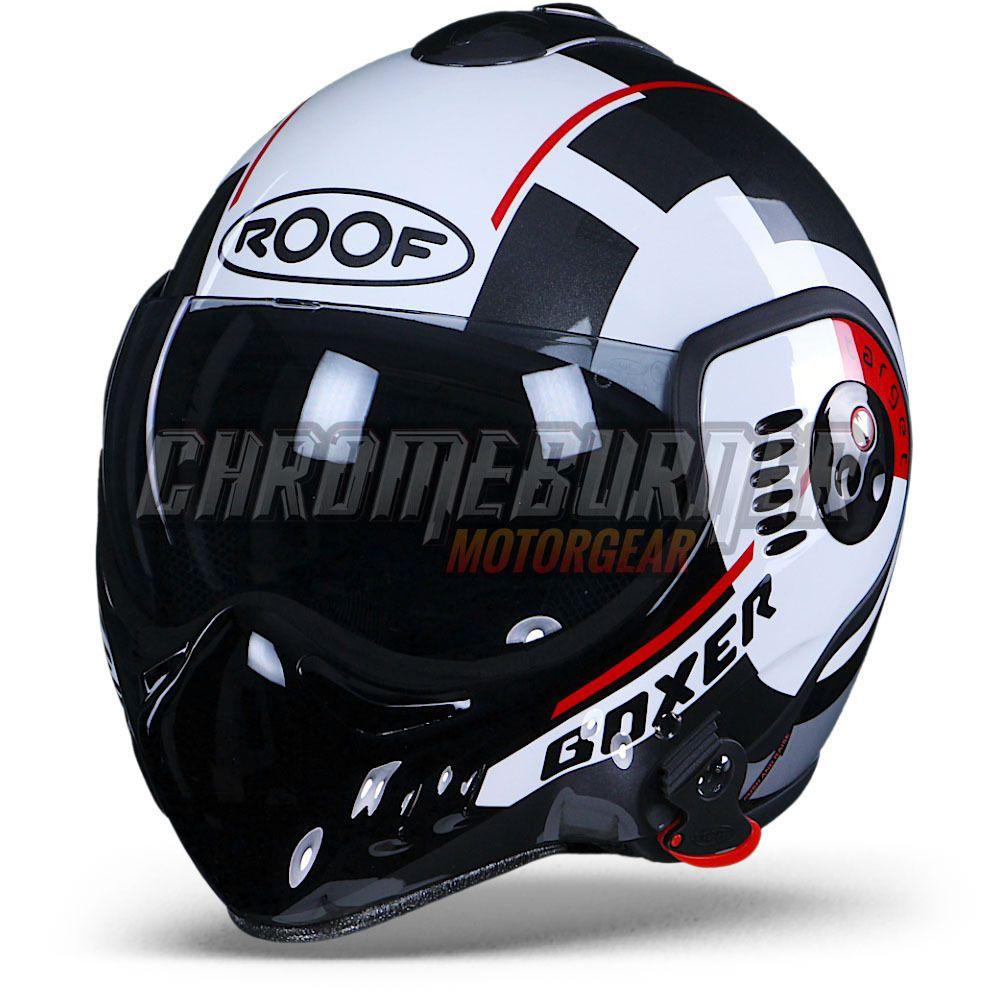 Details About Roof Helmet Boxer V8 Target White Black Red Motorcycle Helmet New Motorcycle Helmets Helmet Cool Motorcycle Helmets