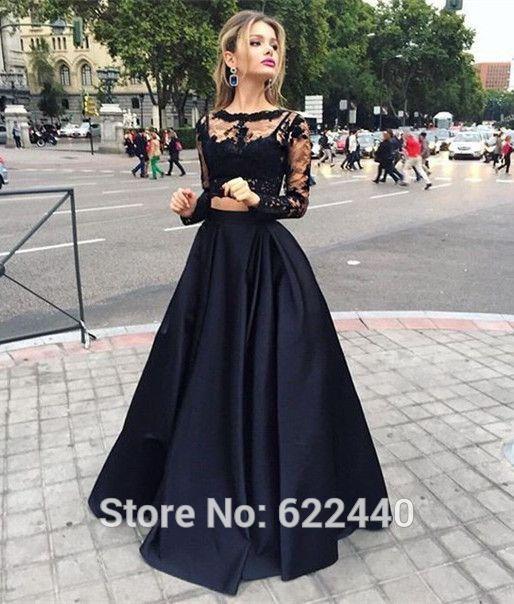 2016-neueste-Zweiteiler-Prom-Dresses-Long-Sleeves-Abendkleider ...
