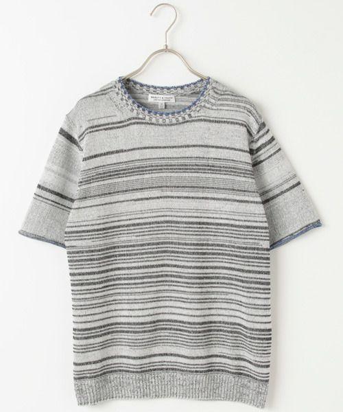 脱力系サマーニット。 Beauty&youth United Arrows MENS BY ∴ タイガー ストライプ クルーネック ニット/ Summer knit on ShopStyle