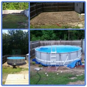 Intex Pool Fence intex ultra frame pool diy --we installed a 16' round intex pool