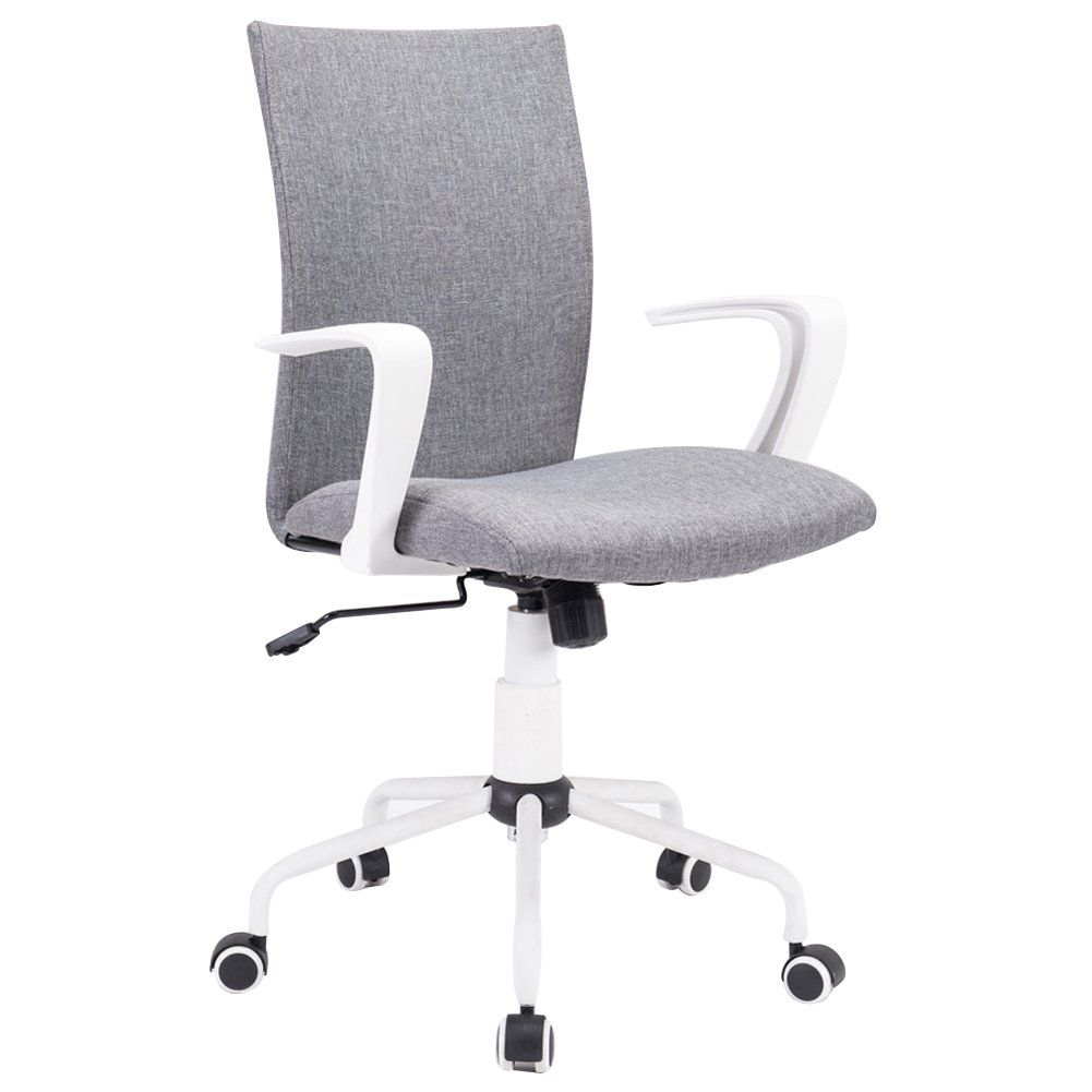 Grey Modern Swivel Fabric Office Chair Grey Desk Chair Computer Desk Chair Desk Chair