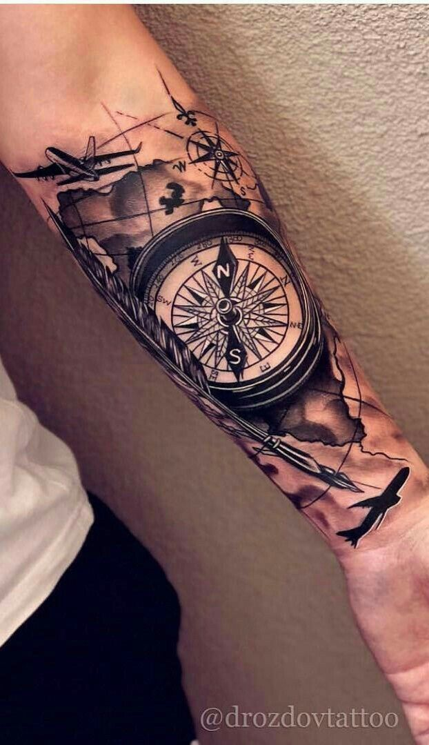 Mandala Tattoo Manner Unterarm Motive Dotwork 15