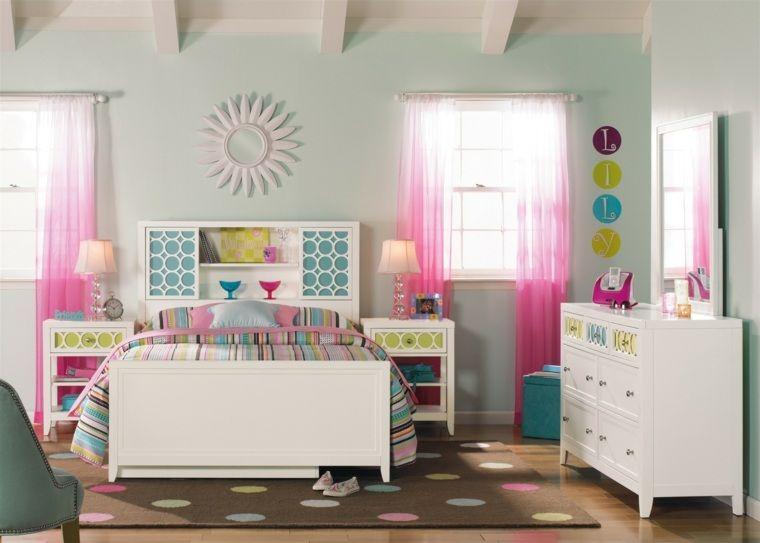 chambre ado fille pratique chambre bleue Pinterest Armoires