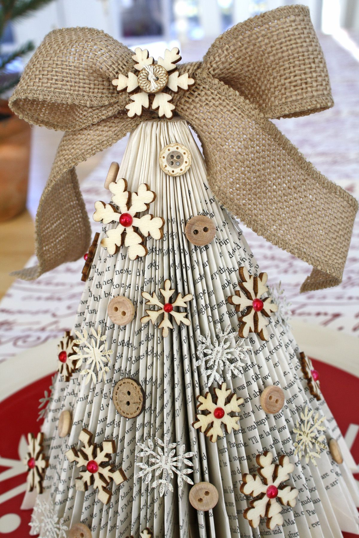 Old Book Christmas Tree Cocoa Daisy Cocoa Daisy Book Christmas Tree Paper Christmas Tree Christmas Crafts Decorations