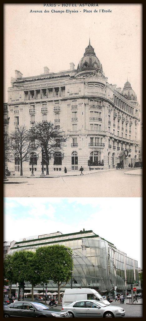 Hôtel Astoria (1907) 122, avenue des Champs-Elysées Paris 75008. Architecte : Gustave Rives. Démoli après l'incendie de 1972.