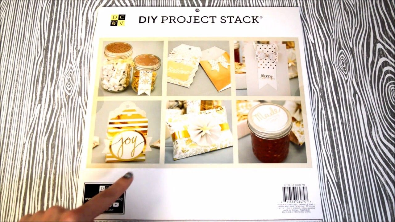 DCWV Gift Decor DIY Project stack flip through video | DCWV Stack ...