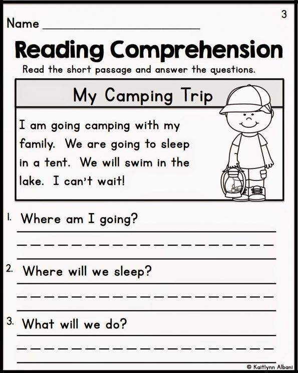 Reading Comprehension Kindergarten Worksheets Free Fiction An I