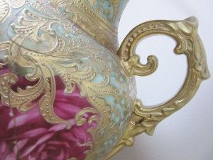 Beloved Rococo I ~ fine art photography ~ abstract photography ~ macro photography ~ antique vase ~ gold fuchsia photography
