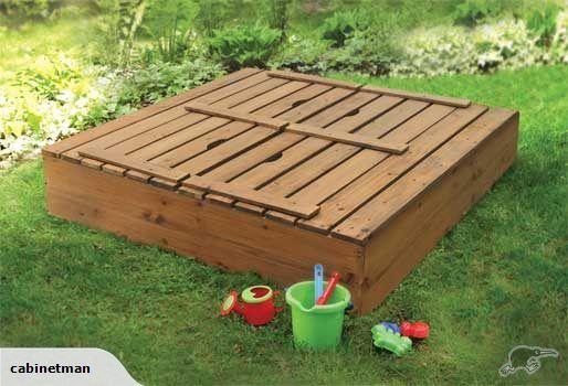Sandpit With Lid Seat 1700x1400 Trade Me Wooden Sandbox