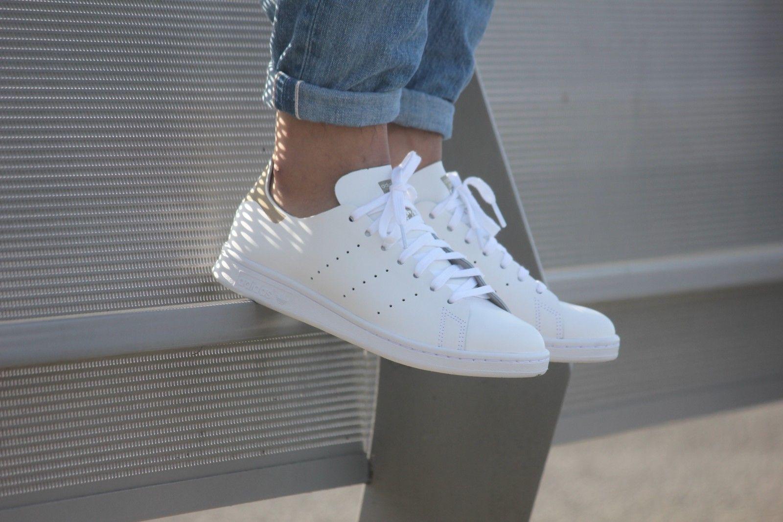 adidas stan smith dekonstruiert weiß weiße s75281 lente outfits