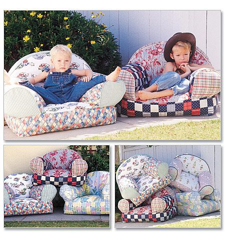 soft sculptured easy chairs for little ones mccalls 9665 out of print sewing pattern child. Black Bedroom Furniture Sets. Home Design Ideas