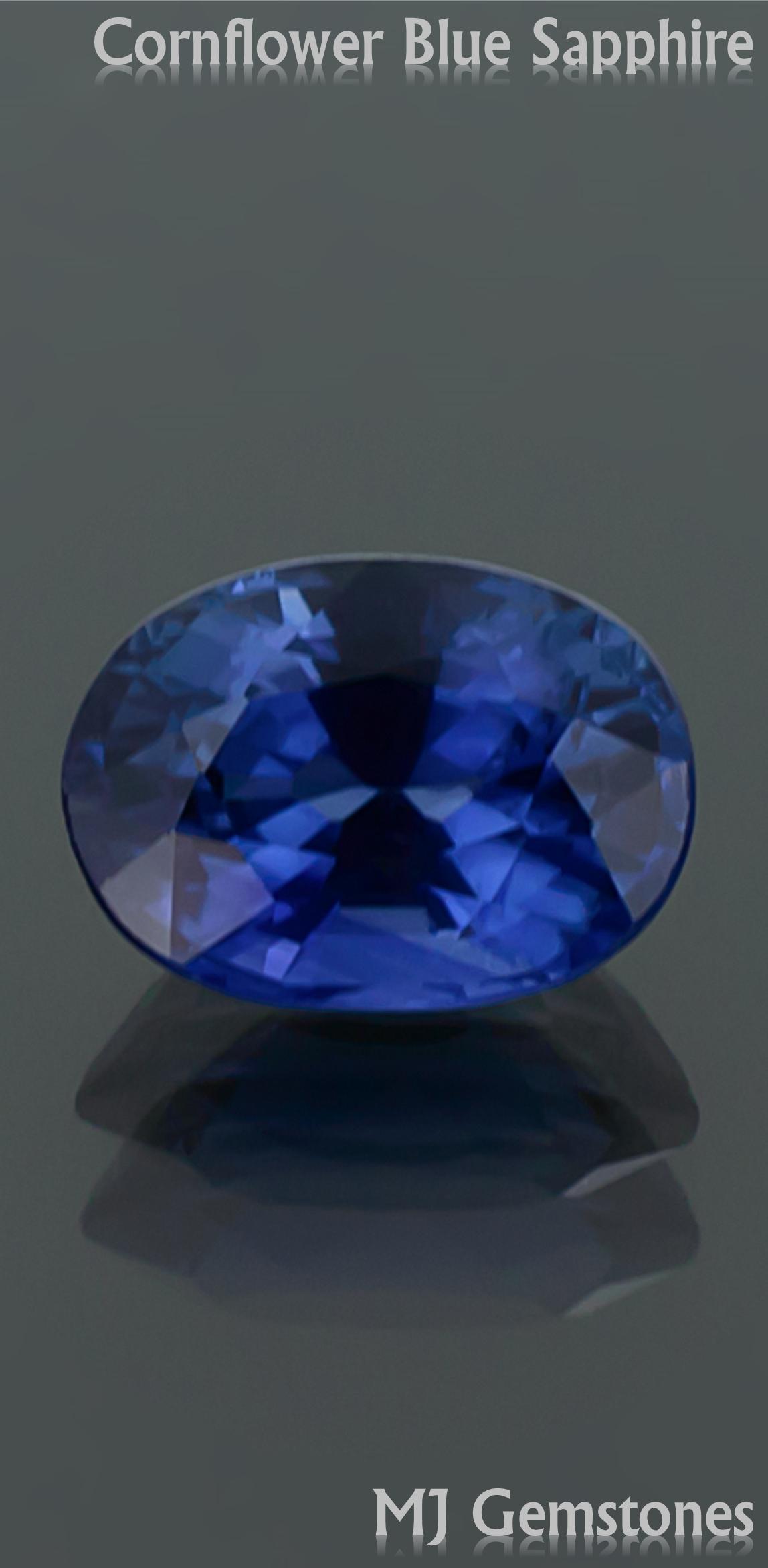 Oval Sapphire Gemstones Blue Sapphire Cornflower Blue