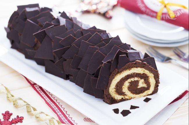 Tronchetto Di Natale Tutorial.Tronchetto Di Natale Buche De Noel Ricetta Ricette Al Cioccolato Dessert Natalizi Ricette Con Cioccolato Fondente