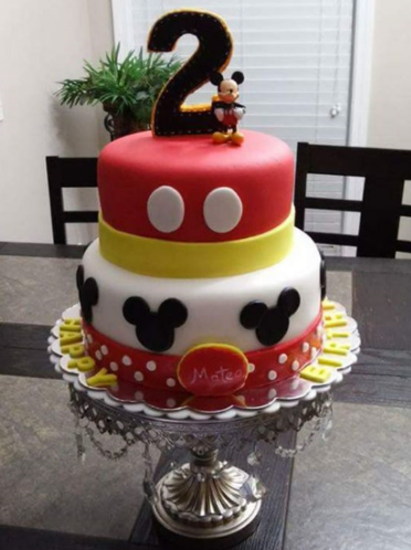 Remarkable Birthday Cake Designs For A 2 Year Old Boy Mickey Birthday Cakes Funny Birthday Cards Online Fluifree Goldxyz
