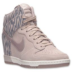 ... Women's Nike Dunk Sky High Print Casual Shoes | FinishLine.com |  Orewood Brown/ ...