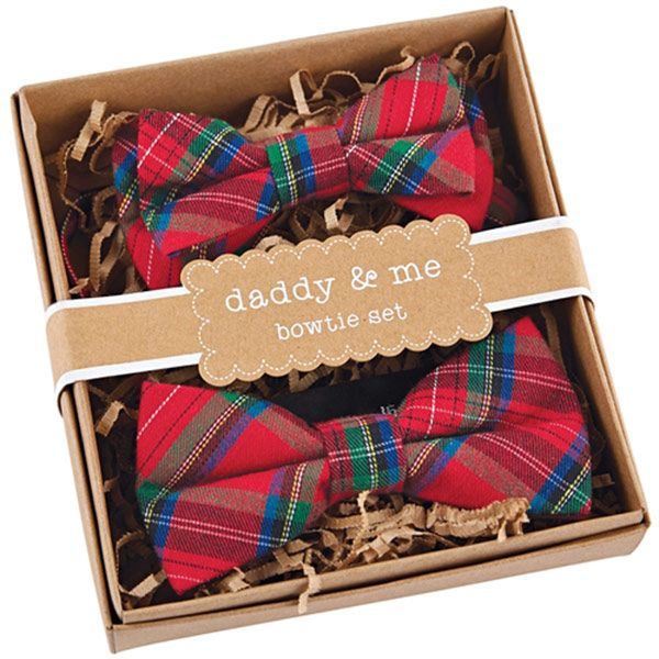 Daddy & Me Christmas Father and Son Bowtie Set