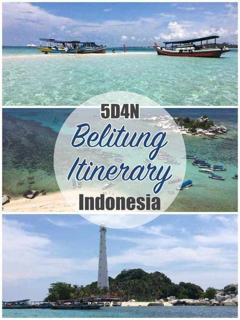 5D4N Belitung Itinerary, Indonesia | Belitung, Asia travel, Indonesia