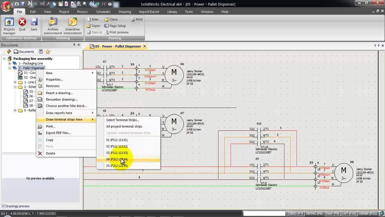 Solidworks Electrical Generate Terminal Drawing Solidworks