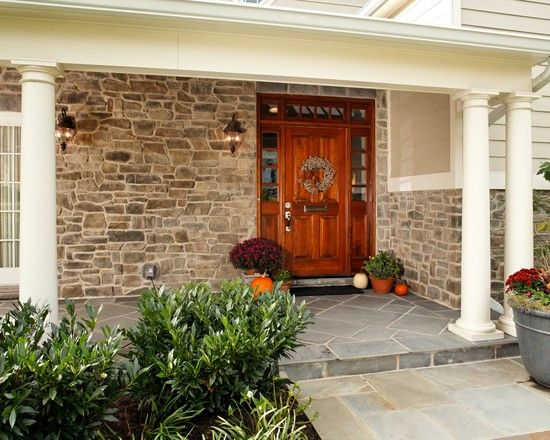 Exterior Rancher Remodel Design, Pictures, Remodel, Decor and Ideas - page 10 - ROCK FOR OUTDOOR KITCHEN & FRONT OF HOUSE.