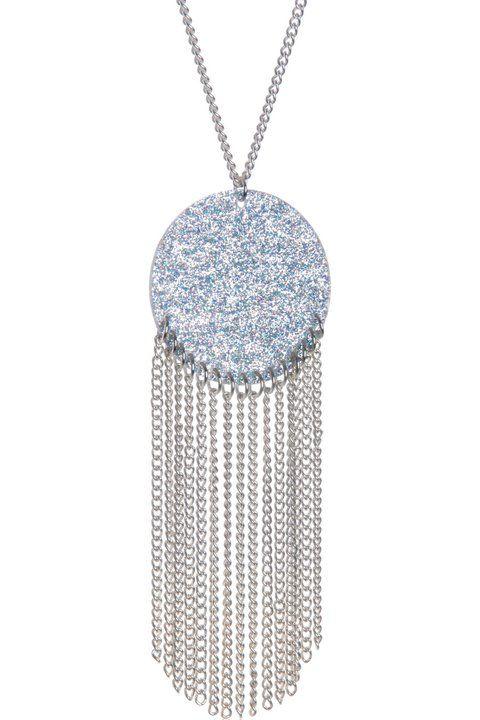 Halcyon moon silver pendant