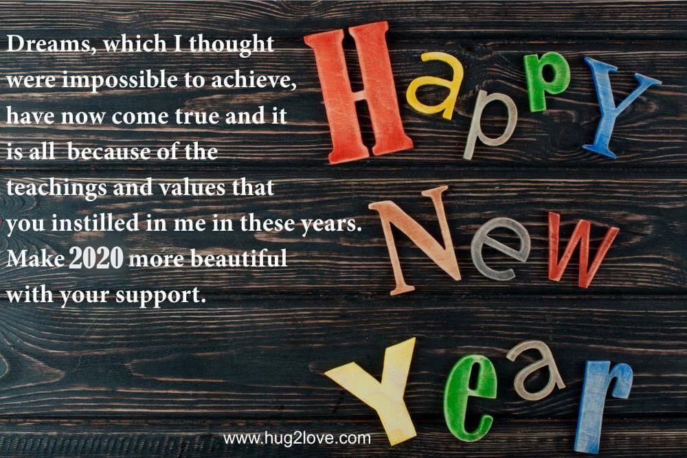 25 Happy New Year 2021 Wishes for Parents (Mother & Father ...