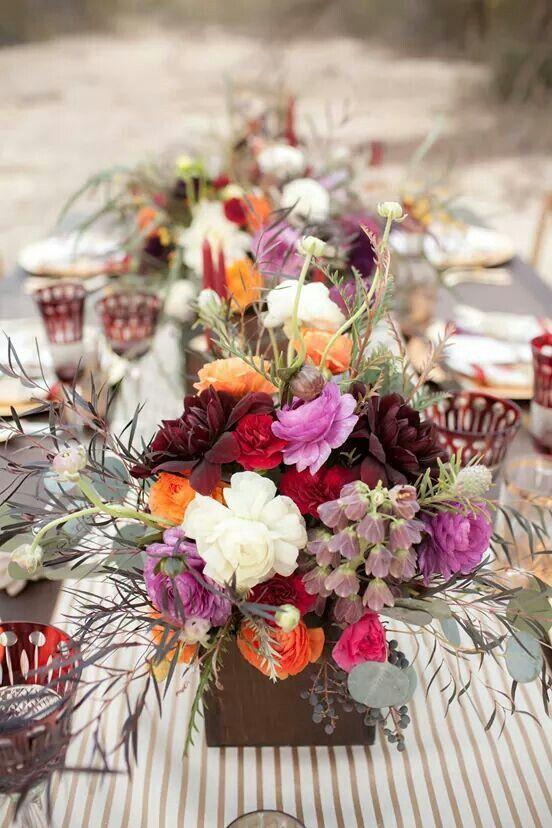 Tisch blumendeko herbst herbstblumendeko pinterest - Herbst dekoration tisch ...