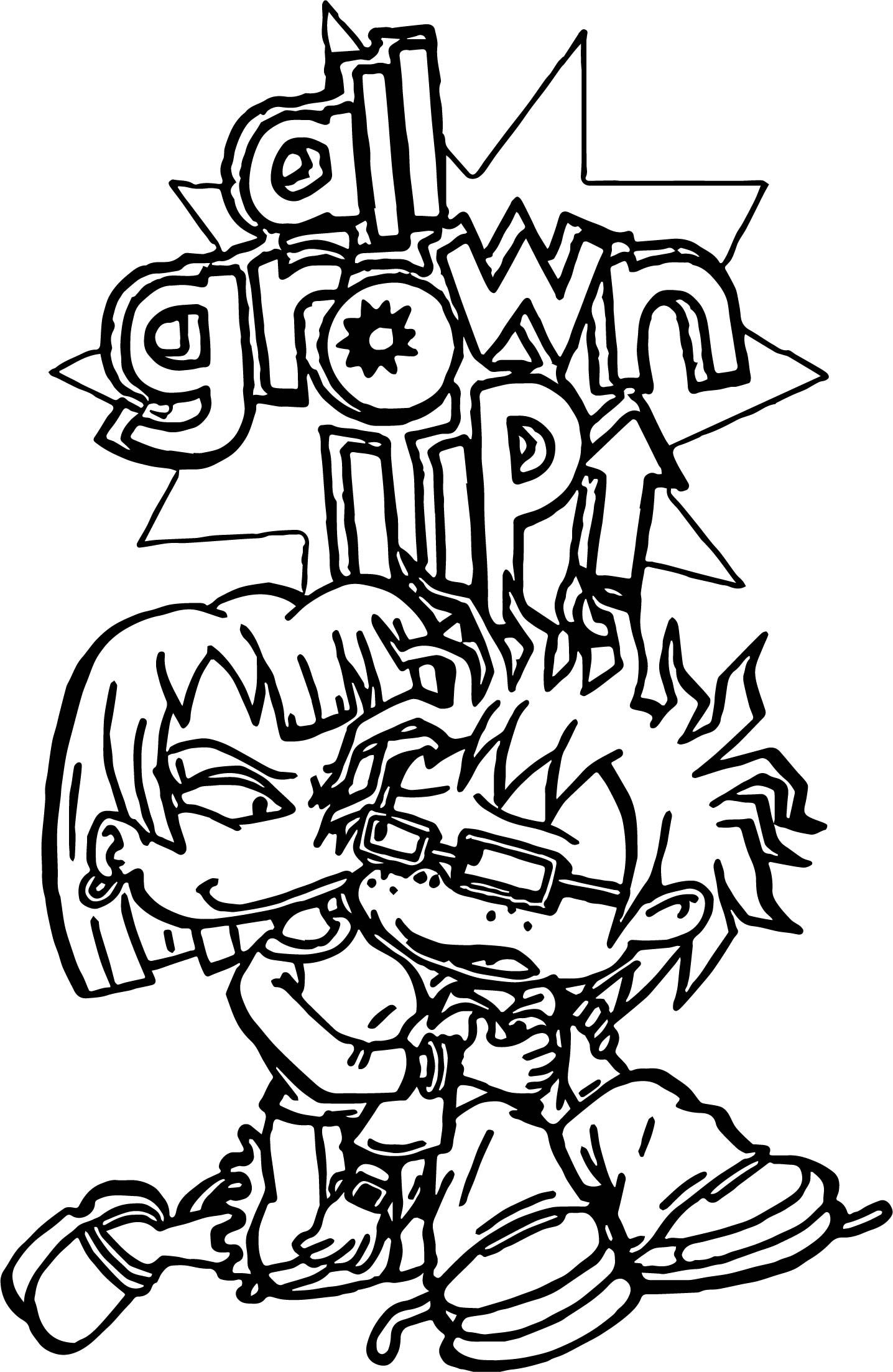 Rugrats All Grown Up Rugrats Coloring Page Color It My