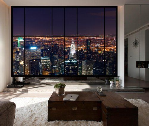 13 Stunning Apartments In New York: Apartment Window Wall View Of Stunning New York