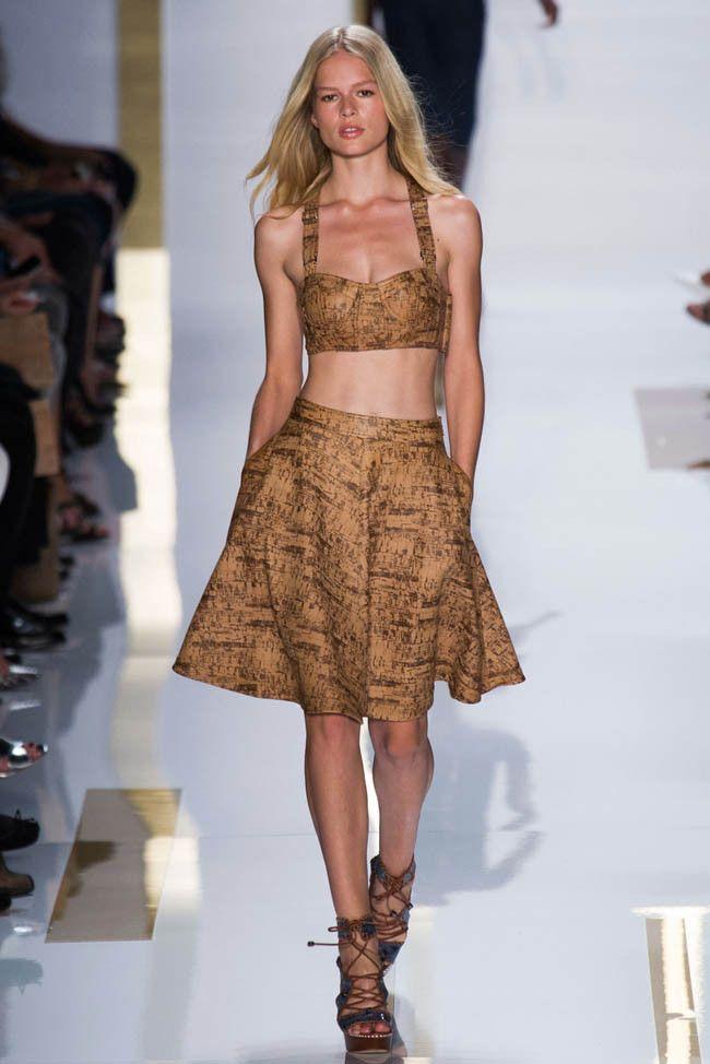 diane von furstenberg - New York Fashion Week... loving the coordinate crop and skater