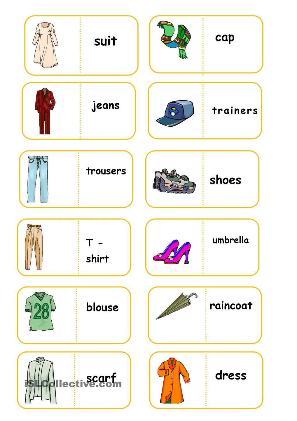 Printables Free Esl Worksheets For Beginners clothes board game worksheet free esl printable worksheets made domino by teachers