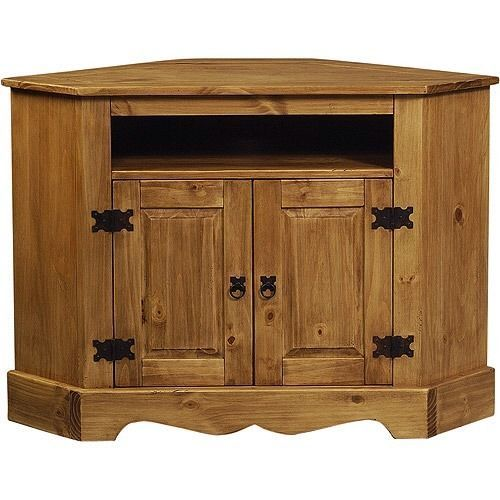 Brand New Rustic Mexican Pine Distressed Corner Tv Stand
