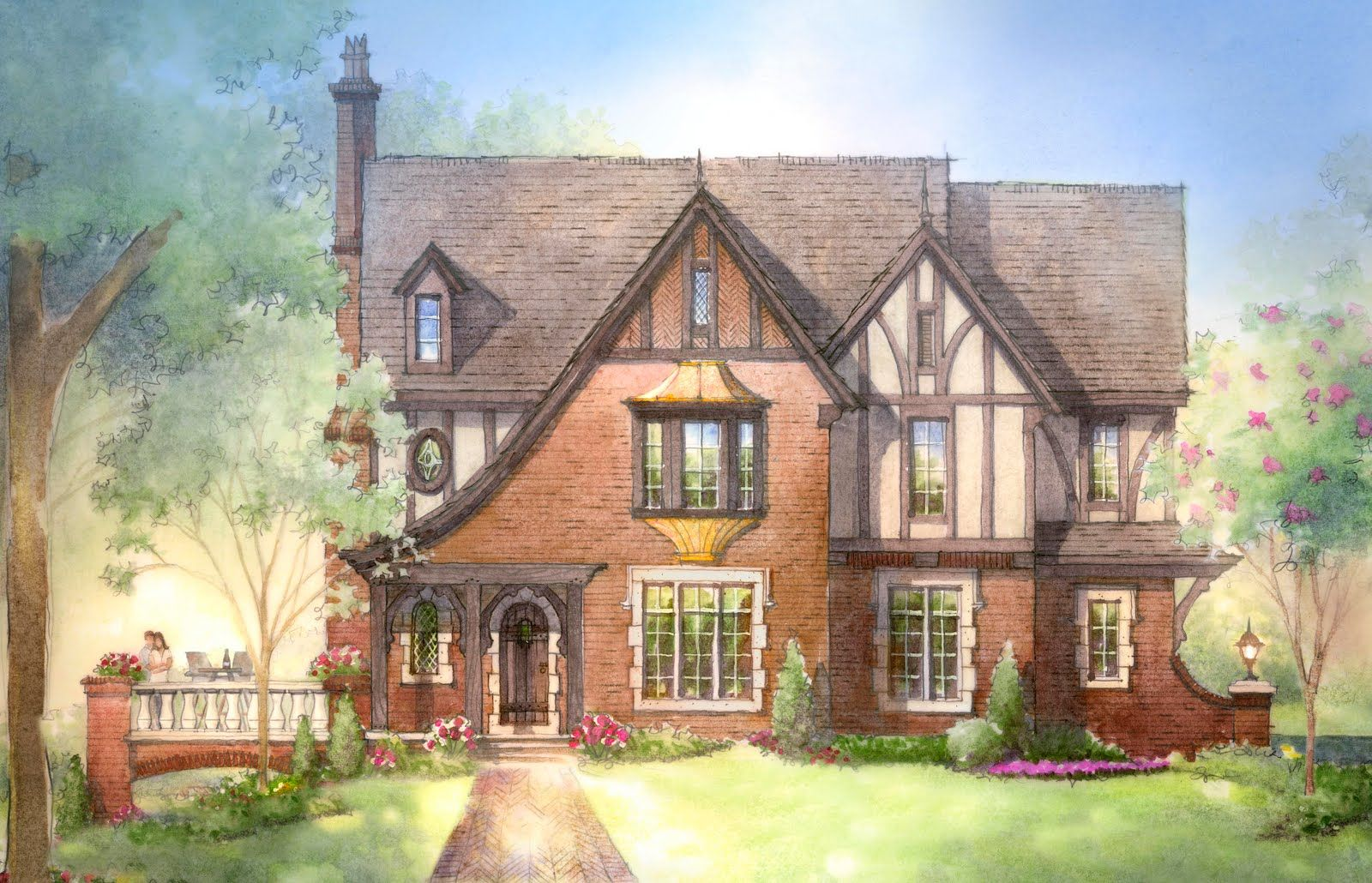 This ridiculously close to what i imagined as my dream for English cottage style home plans
