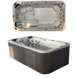 Hot Item Sunrans Mini Swim Spa With Balboa System Sr821 Swim Spa Outdoor Tub Outdoor Swim Spa